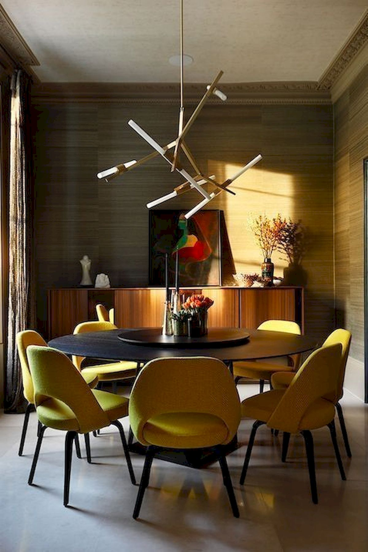 80 Elegant Modern Dining Room Design And Decor Ideas (63)