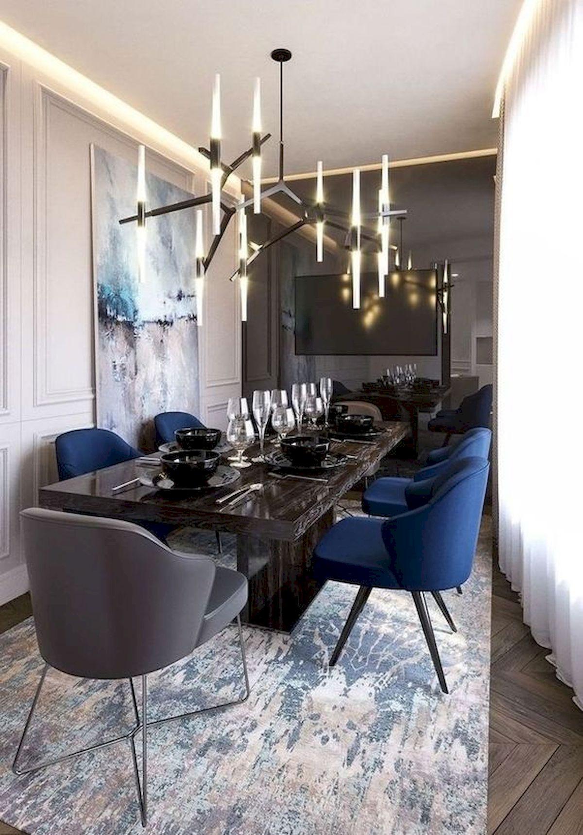 80 Elegant Modern Dining Room Design And Decor Ideas (9)