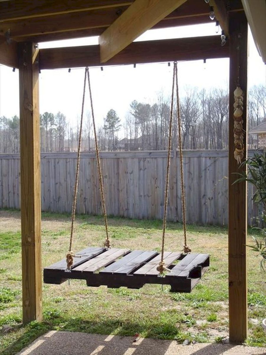 30 Fantastic DIY Wooden Pallet Swing Chair Ideas (28)