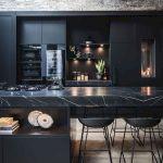 30 Stunning Black Kitchen Ideas You Will Love (10)