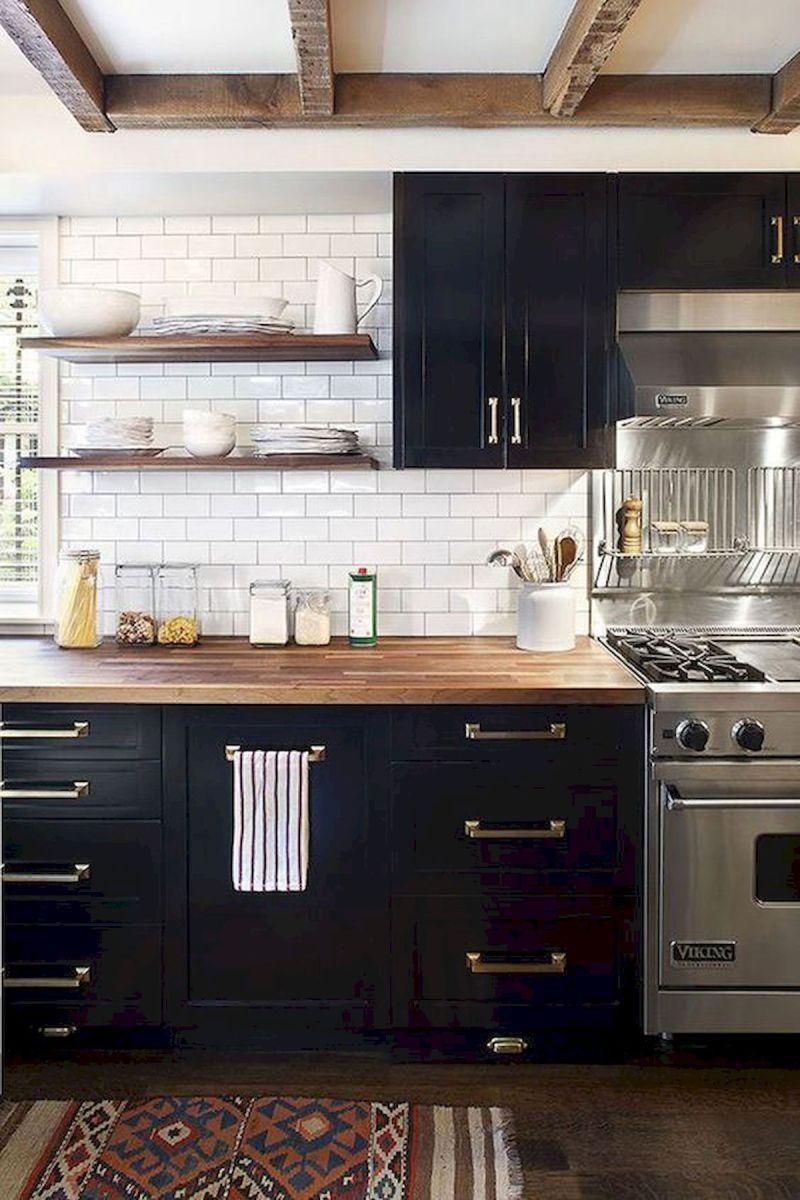 30 Stunning Black Kitchen Ideas You Will Love (15)