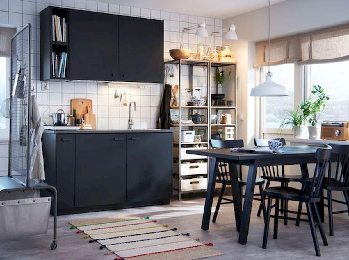 30 Stunning Black Kitchen Ideas You Will Love (18)