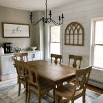 20 Best Farmhouse Dining Room Lighting Decor Ideas (9)