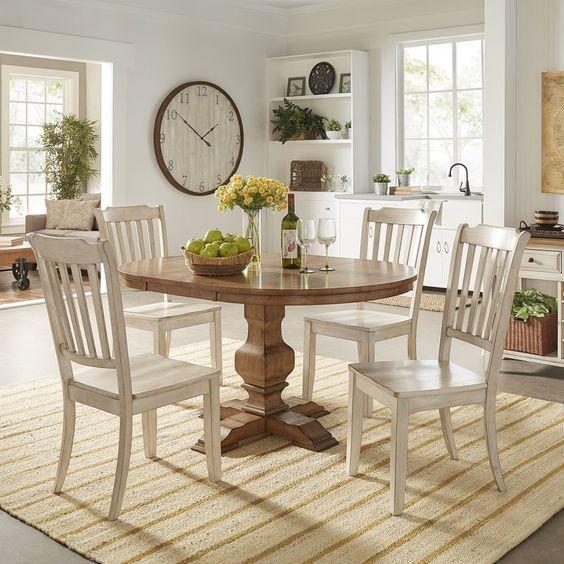 20 Best Farmhouse Dining Room Table Decor Ideas (15)