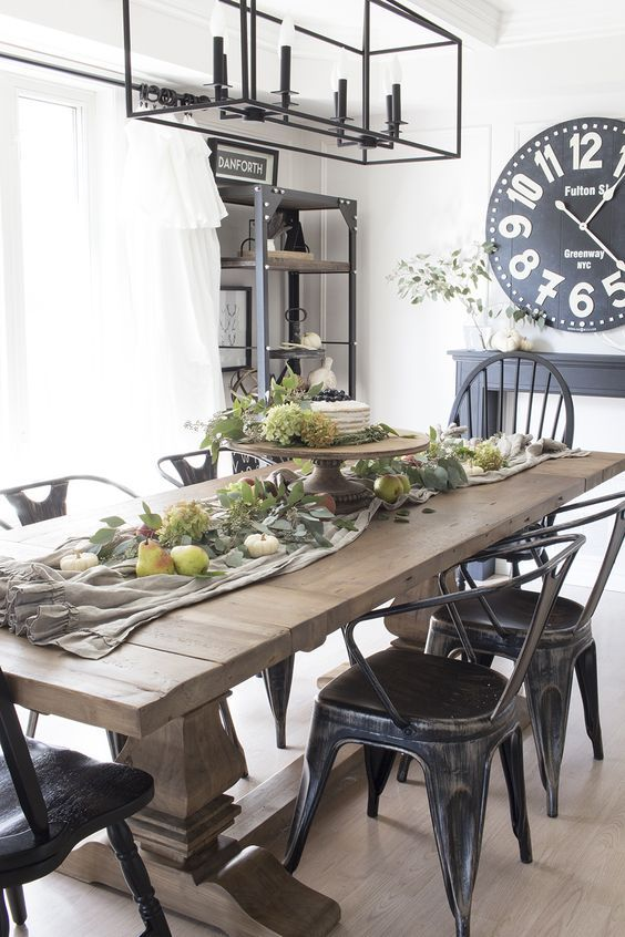 20 Best Farmhouse Dining Room Table Decor Ideas (2)
