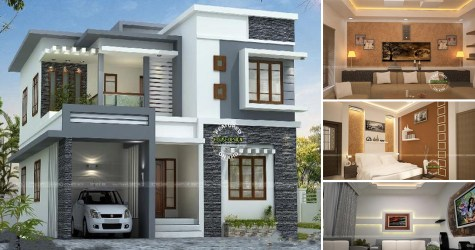 Two Storey Modern Villa With Open House Design House And Decors