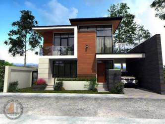 Spectacular Two storey House Design with Impressive Interior House And Decors