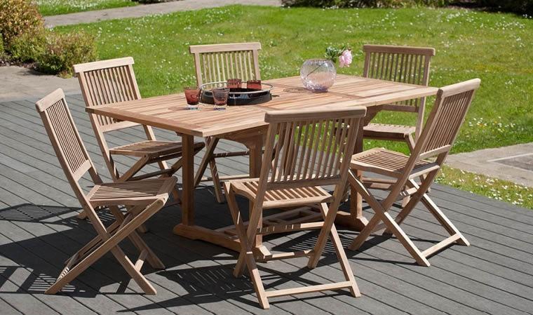 Salon De Jardin Avec Table Extensible   Photos Déco : Idées ...