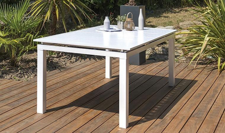 Salon De Jardin Aluminium Table Extensible   Stylish Hall ...