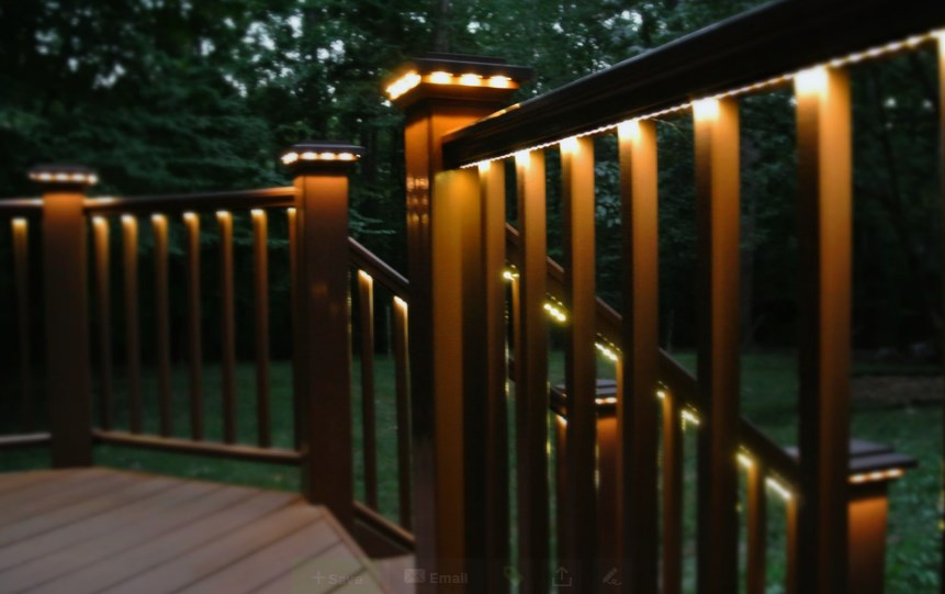 electric deck lighting ideas
