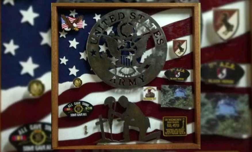 army military shadow box ideas