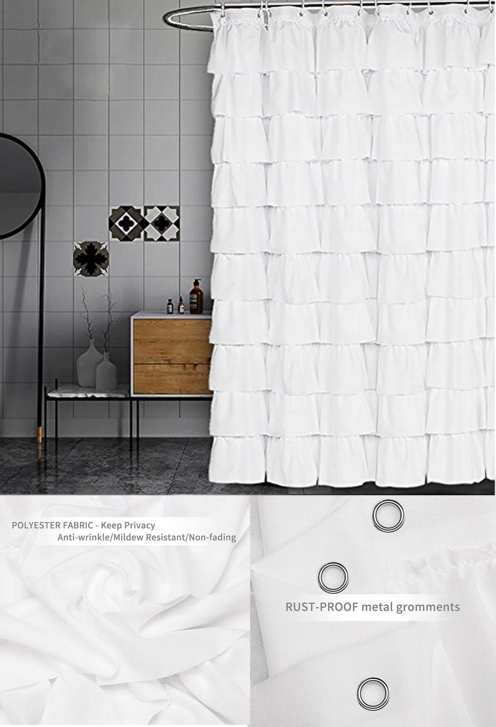 white modern curtain