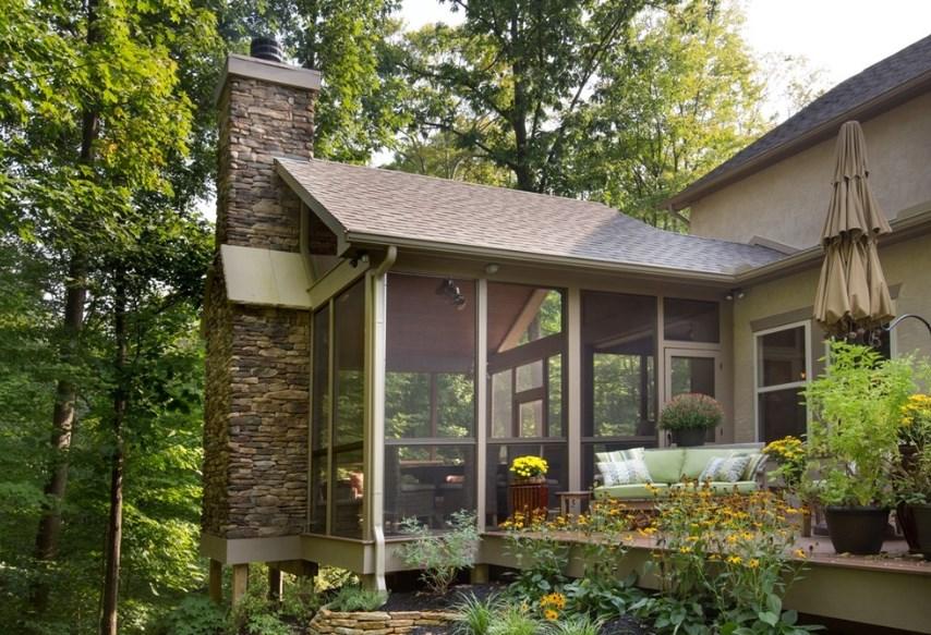 convert screened porch to 3 season room