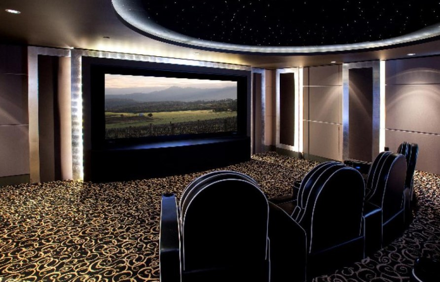 simple basement home theater