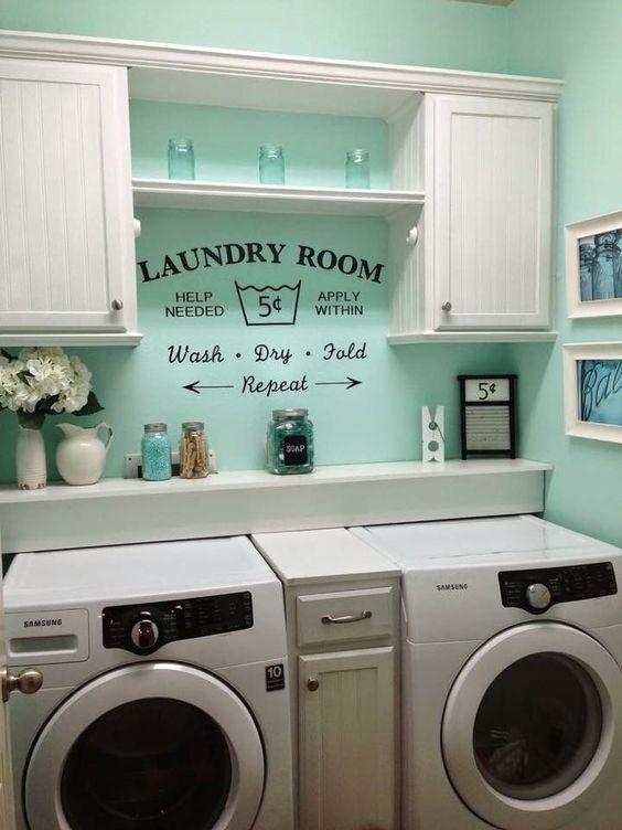 Basement Laundry Room Organization
