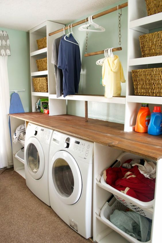 21 Brilliant Unfinished And Finished Basement Laundry Room Ideas For Great Makeovers