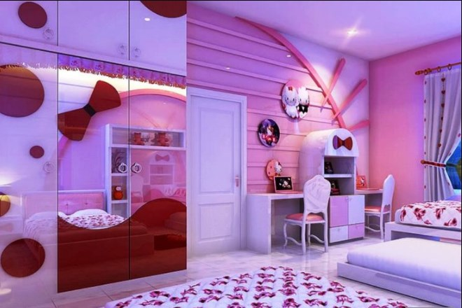 19 Cute Charming Hello Kitty Bedroom Decoration House Garden Diy