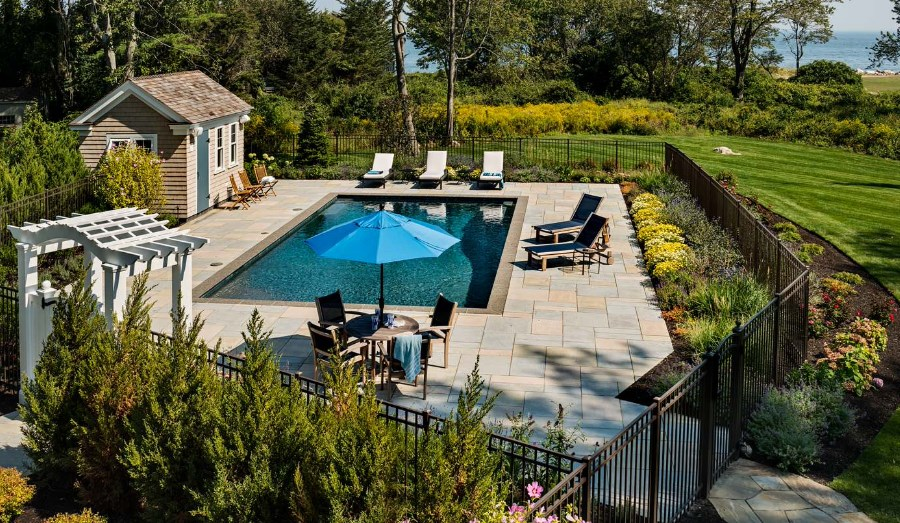 wood pool fence ideas