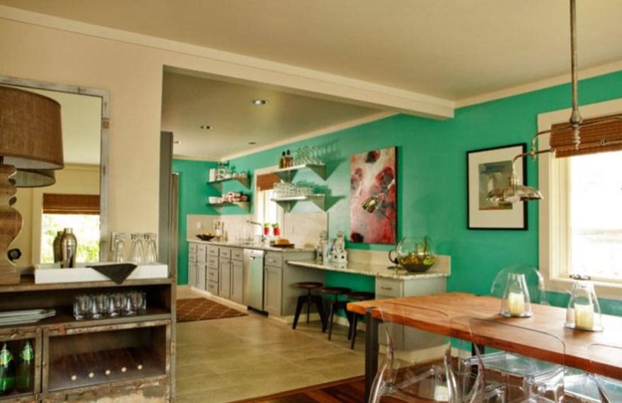 dark turquoise room