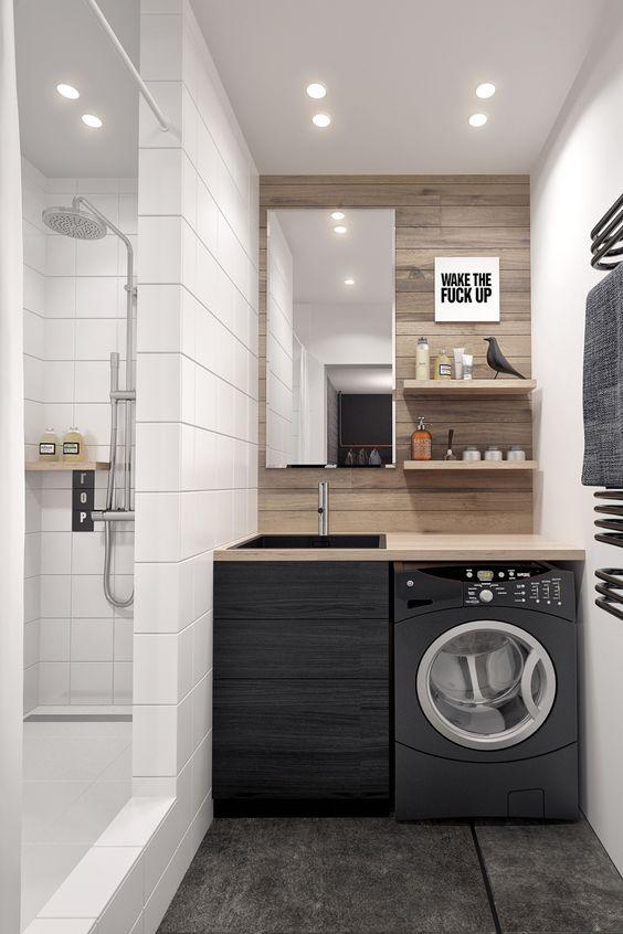 Unfinished Basement Laundry Room