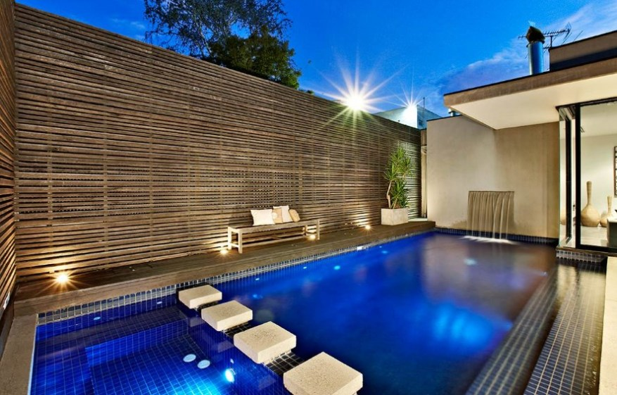 pool fence lighting ideas