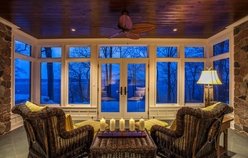 convert screened porch to 3 season room