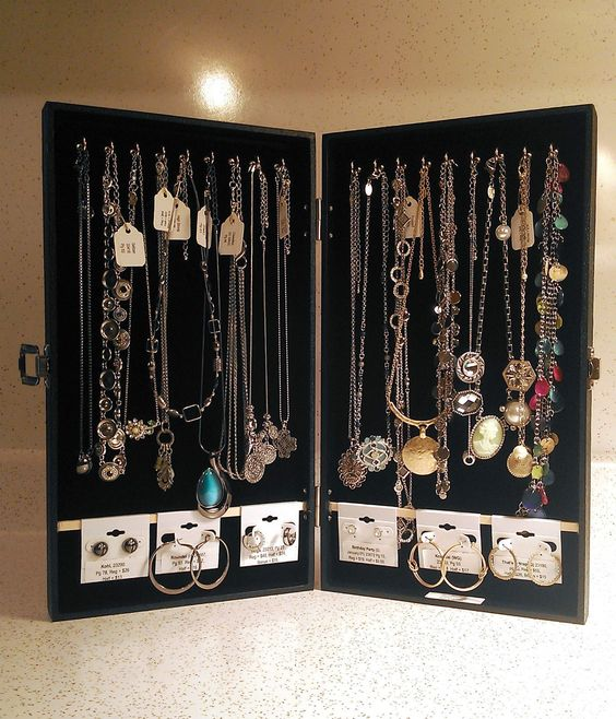 DIY Portable Jewelry Display Cases