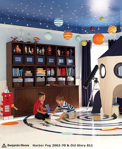 Space Theme Kids Room