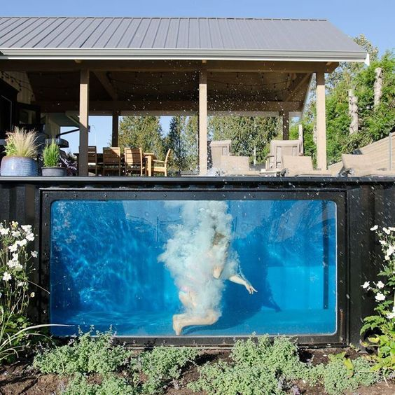 Container Pool with Window