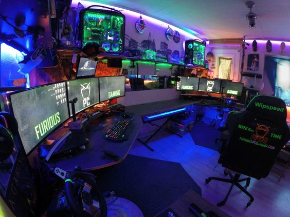 Cool Gaming Room setup