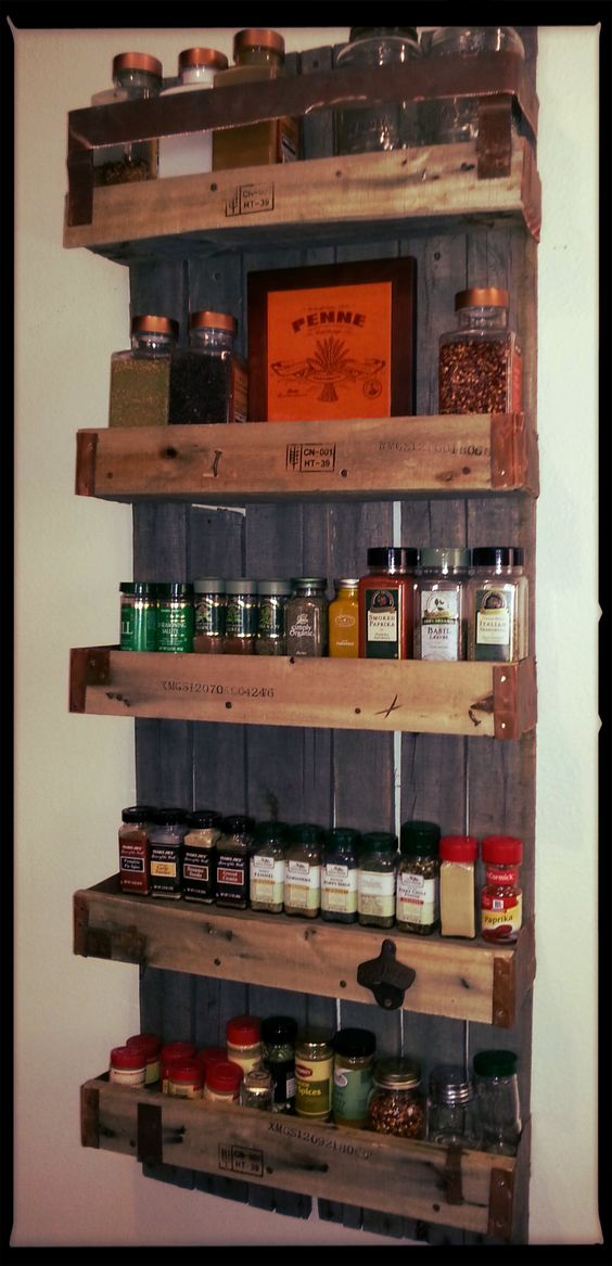 Homemade Spice Rack