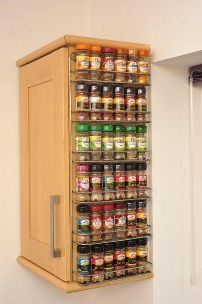 Wall Spice Rack Ideas