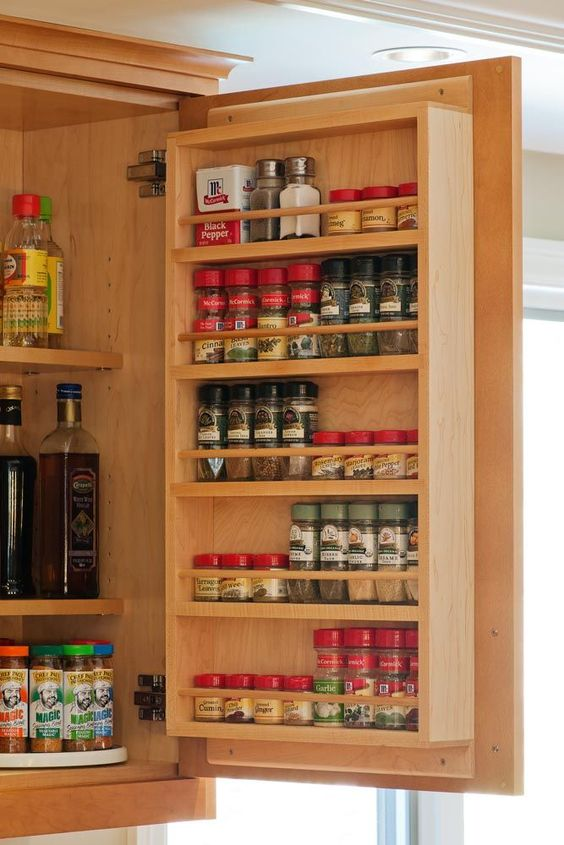 cabinet spice rack