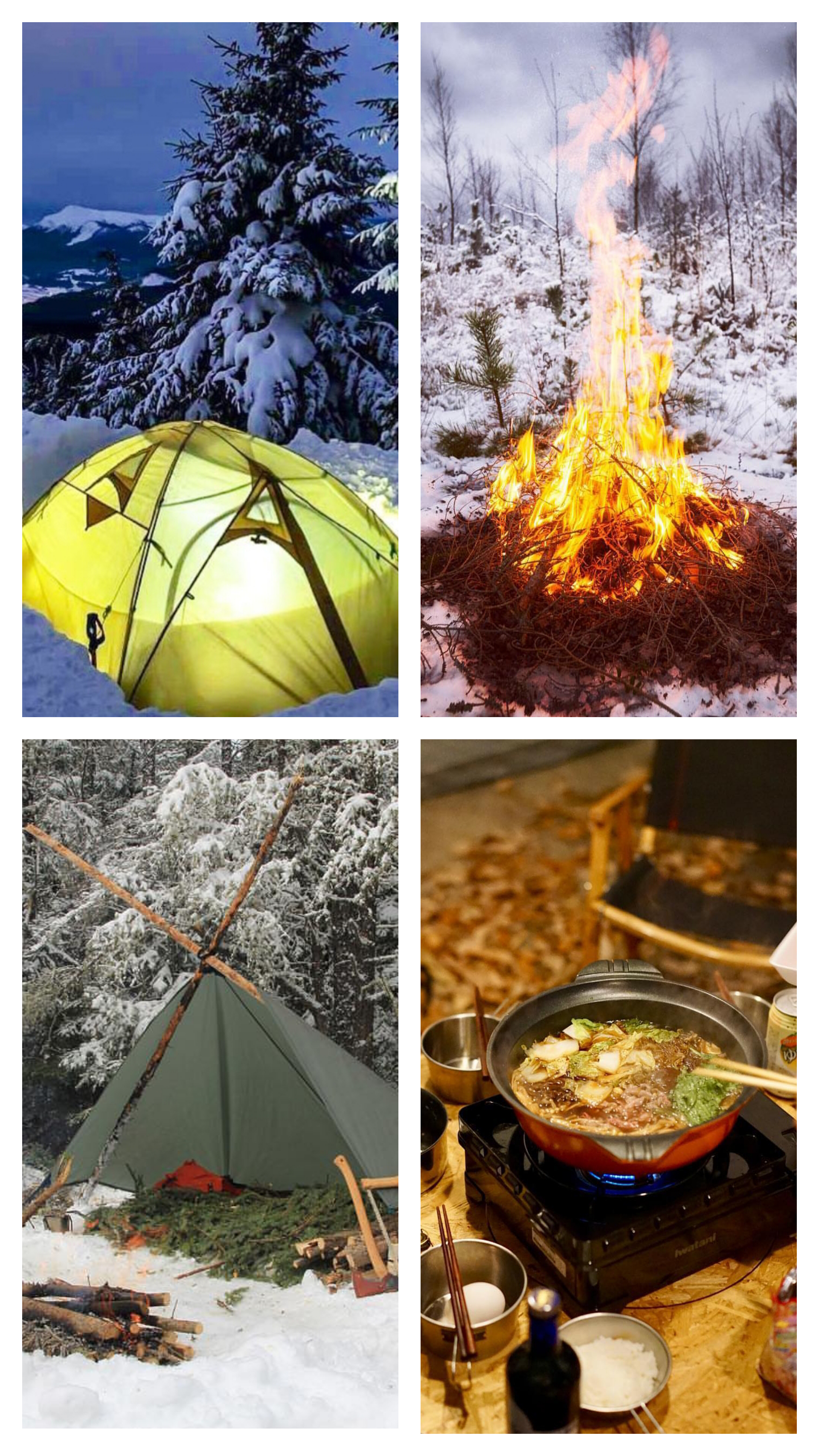 camping winter