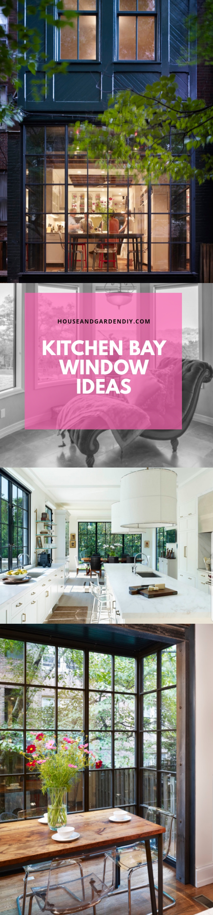 Kitchen bay window ideas