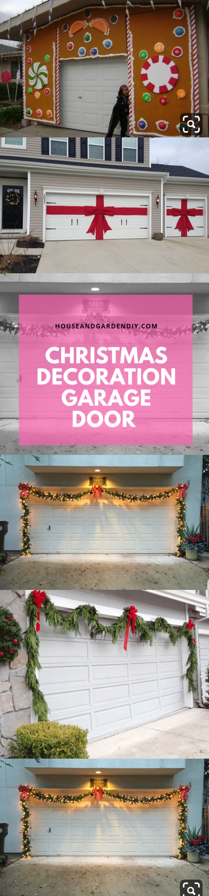 christmas garage door ideas