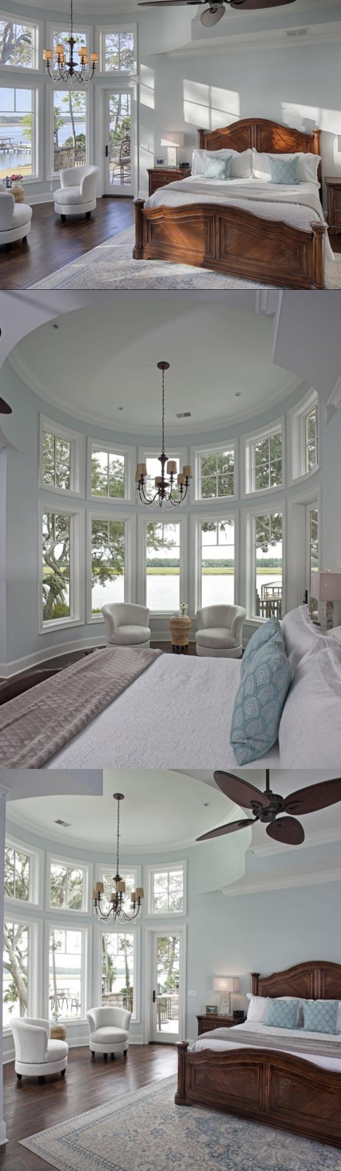 Traditional Bay Window Bedroom