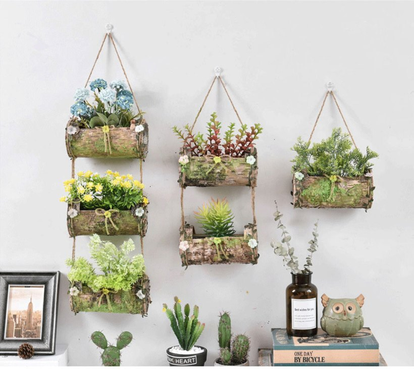 Rustic wall planter