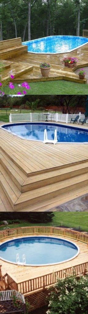50 Above Ground Pool Ideas of 2019, Pro & Cons, Budget ... on ideas for sloped backyards, ideas for sloping backyards, ideas for muddy backyards,