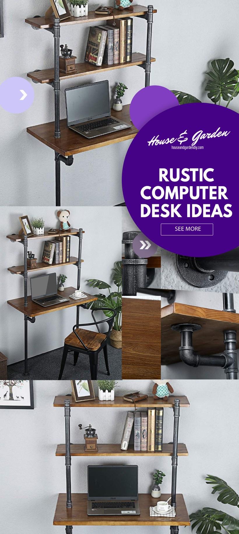 creative computer desk ideas