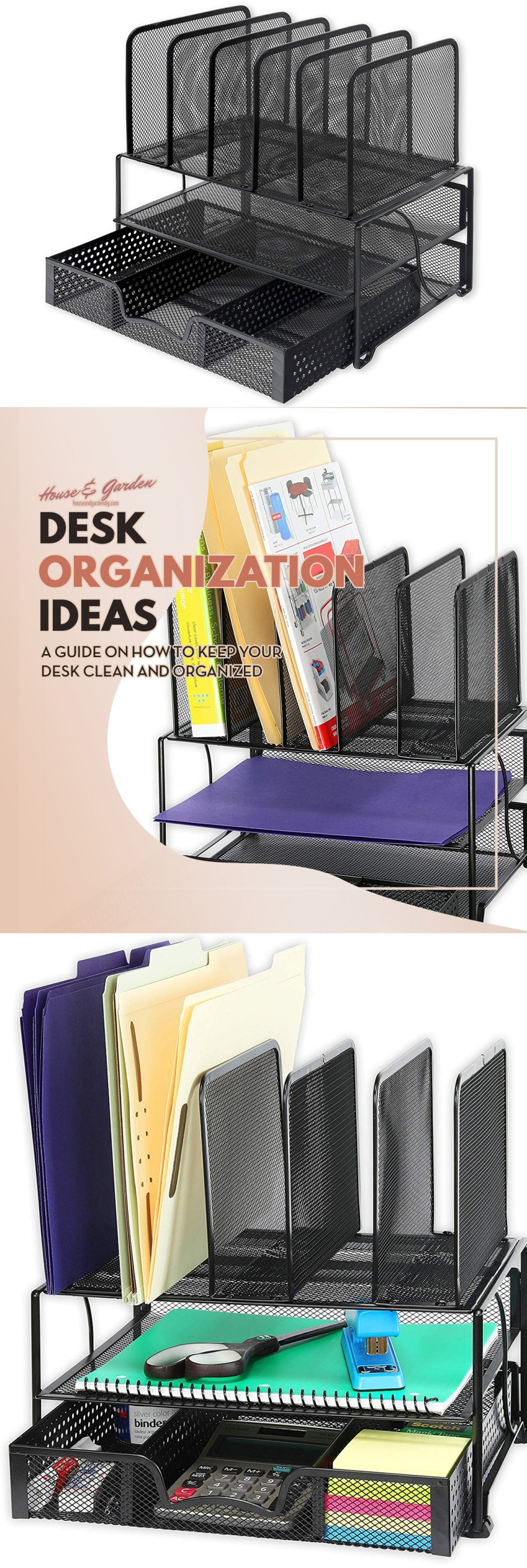 college desk organization ideas