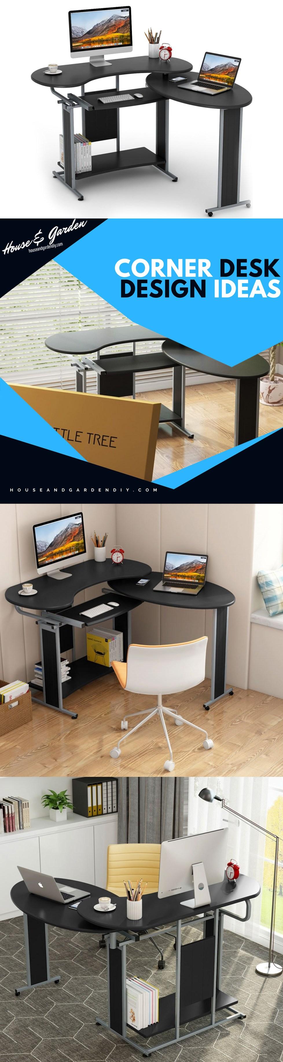 built in corner desk plans