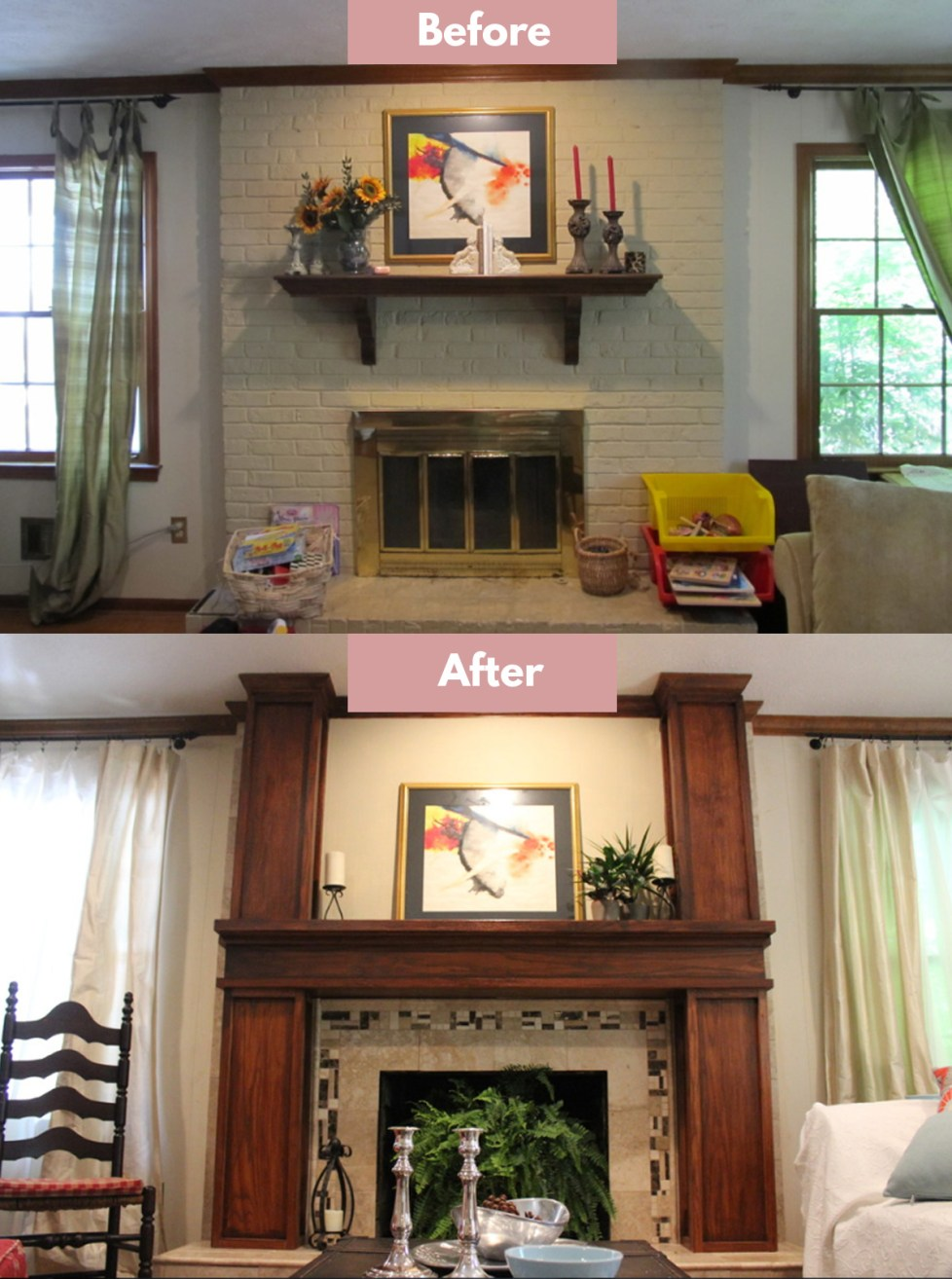 how to reface a fireplace with tile