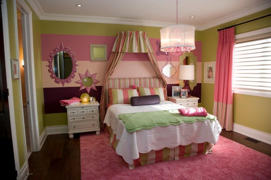 romantic bedroom lighting pink