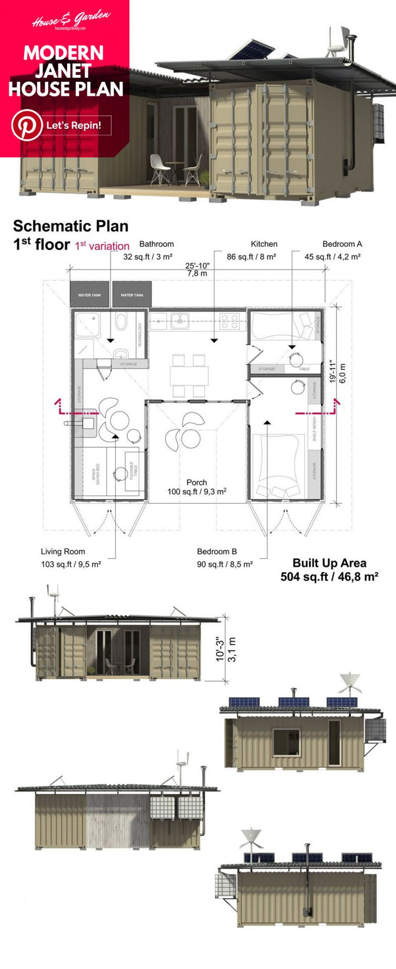planos de casas pequeñas con fotos