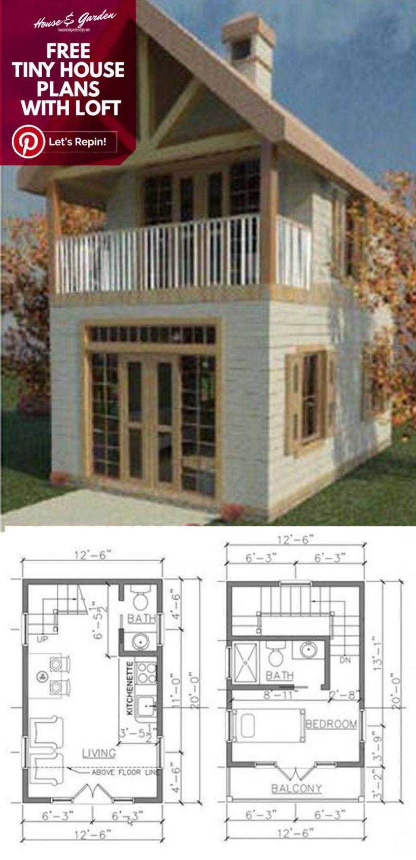 planos de casas pequeñas con desván