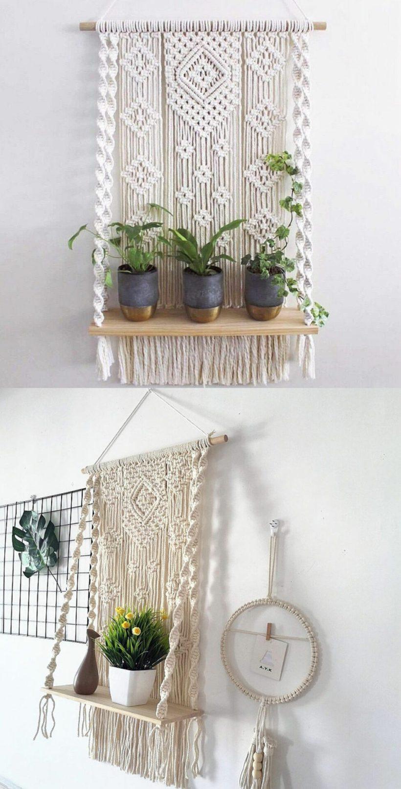 bedroom hanging shelf