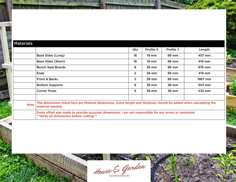bench planter plan
