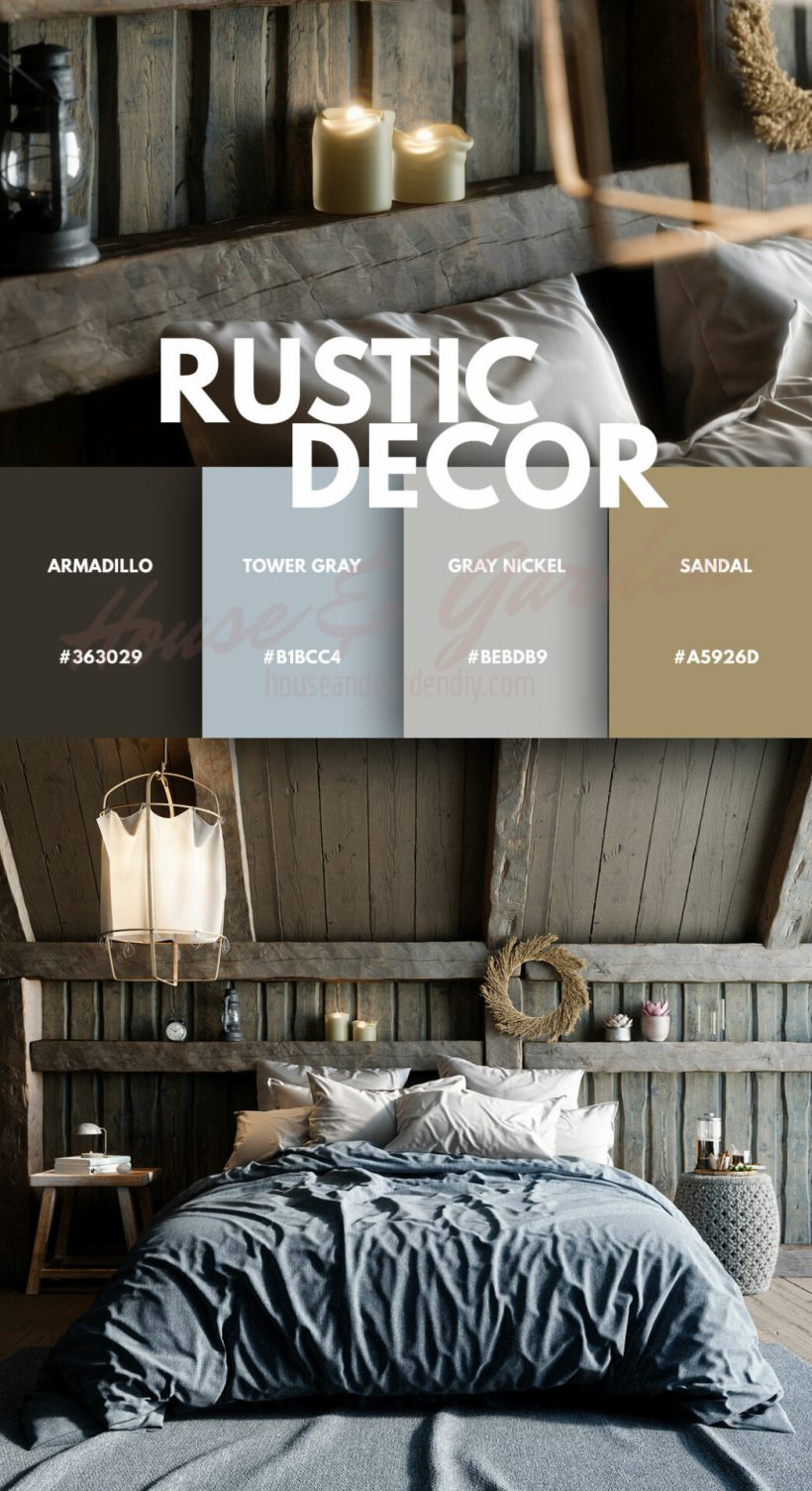 rustic bedroom colors