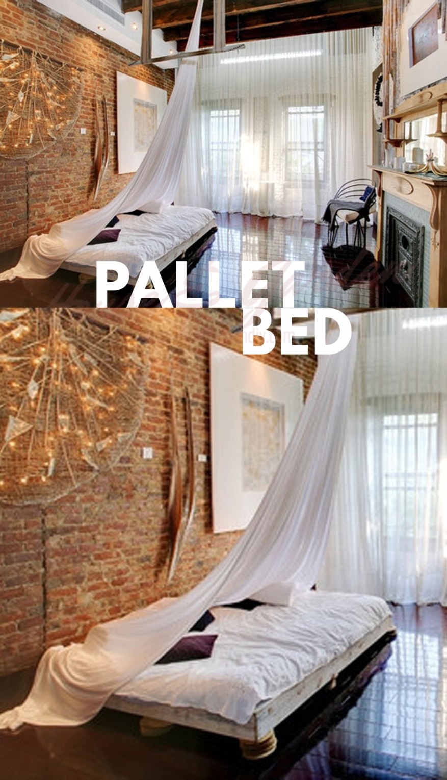 pallet as bed frame